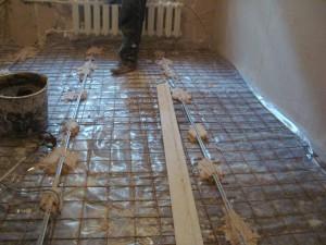 бетонная стяжка полов